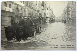 CRUE DE LA SEINE - JANVIER 1910 - FAUBOURG SAINT ANTOINE - PARIS - Arrondissement: 12