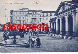 ARICCIA - PIAZZA ROMA F/GRANDE VIAGGIATA  1952? ANIMATA - Fiumicino