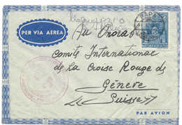 HONGRIE - SUISSE, 1942 Camp Internés Italiens OLASZ TABOR, PAPA DAKA, Internati Italiani, Censure Hongroise, Croix-rouge - Hongrie
