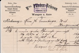 Wangen A. Aare. Wwe Pfister-Brisson, Spengler U. Installateur - Suisse