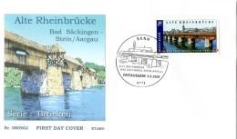 2008 Joint / Gemeinschaftsausgabe Germany Switzerland, OFFICIAL FDC GERMANY: Old Rhine Bridge - Gezamelijke Uitgaven