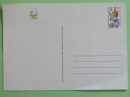 France 1992 Unused Stationery Postcard - Europa Cept - Sailing Boat - Guadeloupe Map Compass - Francia