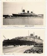 NORMANDIE 1932 Et 1935 2 Photos - Boats