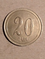 TOKEN JETON GETTONE 20 CENTEVOS DA CATALOGARE - Monetari/ Di Necessità