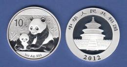 VR China Silbermünze Panda 2012 Silberunze 31,10g Ag999 PP - China