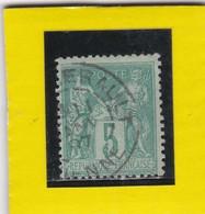 SAGE N° 75   TYPE IIB + CAD  CHATELLERAULT / VIENNE  1 JANVIER 1897 - REF AC - 1876-1898 Sage (Type II)