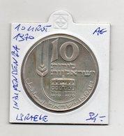Israele - 1970 - 10 Lirot - Indipendenza - Argento - Vedi Foto - (FDC9408) - Israele