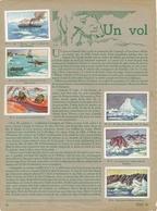 VIGNETTES Sur Pages D'album : UN VOL POLAIRE - EXPEDITION BYRD AU POLE SUD - ANTARCTIQUE + - Documentos Antiguos
