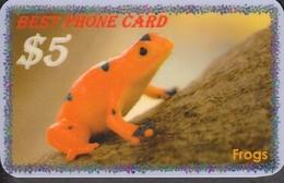 FROG SET OF 8 PHONE CARDS - Otros