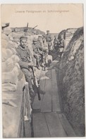 World Ware 1914-1918: Unsere Feldgrauen Im Schützengraben, Nice Card! - Guerra 1914-18