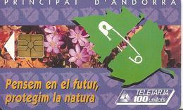CARTE-PUCE-ANDORRE-50U--AND 34-GEMB-06/95-ADN-PROTECTION NATURE-UTILISE-TBE - Andorra