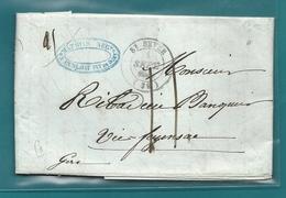 Landes - St Sever Pour Vic Fezensac. 1845 - Marcophilie (Lettres)