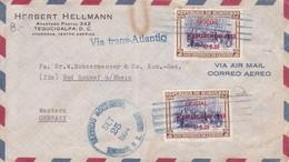 AIRMAIL. VIA TRANS ATLANTIC. CIRC TO GERMANY. HONDURAS.-BLEUP - Honduras