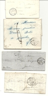 4 Documents Pour Josselin (Morbihan) - Postmark Collection (Covers)
