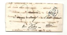 Marquis De Bercy à Vichy (Allier). LAC Au Départ De Paris En 1830 - Postmark Collection (Covers)