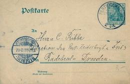 1903 , ALEMANIA , ENTERO POSTAL CIRCULADO , HERTWIGSWALDAU - DRESDEN - Cartas
