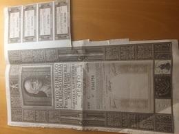 DEBITO PUBBLICO DEL REGNO D'ITALIA-ACAPITALE NOMINALE DI LIRE 100-ANCORA PRESENTI NUMERO 4 CEDOLE DA LIRE 2 E CENT.50 - Azioni & Titoli