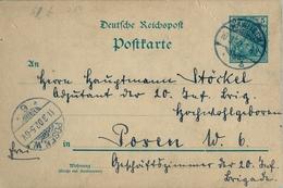 1902 , ALEMANIA , ENTERO POSTAL CIRCULADO , RAWITSCH - POSEN - Cartas