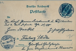1898 , ALEMANIA , ENTERO POSTAL CIRCULADO , RAWITSCH - FREIBURG - Cartas