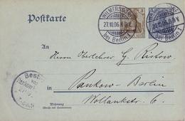 1906 , ALEMANIA , ENTERO POSTAL CIRCULADO , WILMERSDORF - PANKOW - Cartas