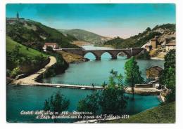 CASTEL DELL'ALPI - PANORAMA E LAGO FORMATOSI CON LA FRANA DEL FEBBRAIO 1951 - VIAGGIATA FG - Bologna