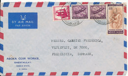 India Air Mail Cover Sent  To Denmark 5-1-1974 - Airmail