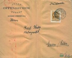 1940 , HUNGRIA , SOBRE COMERCIAL CIRCULADO , KECSKEMÉT - ESSEN ,  CENSURA - Briefe U. Dokumente
