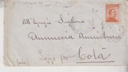 Regno 1918 Busta Affrancata Sassone 109 Per Lazize Per Colà Verona - Storia Postale