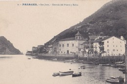 Tarjeta Postal : Pasages (Spain) San Juan Entrada Del Puerto Y Bahia    Edicion Camara E Hijos - Spain