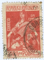 PORTOGALLO, PORTUGAL, TASSE POSTALI, 1915, FRANCOBOLLI USATI, 1 C.  YT 226   Scott RA4 - 1910 - ... Repubblica