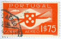 PORTOGALLO, PORTUGAL, POSTA AEREA, AIRMAIL, ELICA, 1936, FRANCOBOLLI USATI, 1,75 E.  YT PA2   Scott C2 - Usati