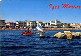 Igea Marina - Alberghi E Spiaggia Visti Dal Mare - 13191 - Formato Grande Non Viaggiata – E 5 - Rimini
