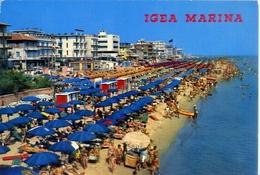 Igea Marina - Panorama Della Spiaggia - 319 - Formato Grande Viaggiata – E 5 - Rimini