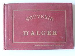 Souvenir D'Alger RARISSIME  Carnet .de 12 Photos Anciennes J. GEISER Photographe Rue BAB -AZOUN 7 13 Scans - Alger