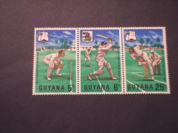 GUYANA - 1968 SPORT CRICKET 3 VALORI - NUOVI(++) - Guiana (1966-...)