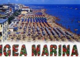 Igea Marina - Panorama Della Spiaggia - Formato Grande Viaggiata – E 5 - Rimini