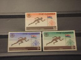 GAMBIA - 1970 GIOCHI SPORTIVI 3 VALORI - NUOVI(++) - Gambia (1965-...)