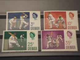 GRENADA - 1969 SPORT CRICKET  4 VALORI - NUOVI(++) - Grenada (1974-...)