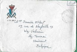 """! - Belgique - Enveloppe Du 4 TTr. BPS 7 - Poste En Allemagne - Timbre """"SM"""" - Cachet De Poste BPS VII - Belgique"""