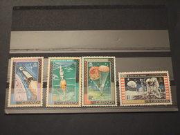 GRENADA - 1970 VOLO LUNA/PHYLIMPIA 4 VALORI, Soprastampati - NUOVI(++) - Grenada (1974-...)