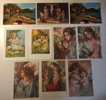 Lotto 10 Cartoline  - Paesaggistiche - Arte Pittura Angelo Angel Religione - Cartoline