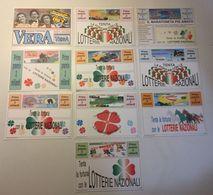 Lotto 10 Cartoline  - Lotteria Nazionale - Gioco - 5 - 99 Cartoline