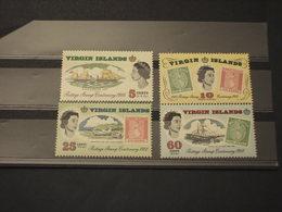 VIRGIN - 1966 100rio POSTE 4 VALORI - NUOVI(++) - British Virgin Islands