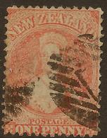NZ 1864 1d FFQ P12.5 SG 111 U #AKK14 - 1855-1907 Crown Colony