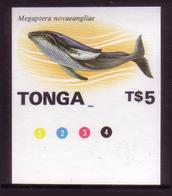 Tonga 1996  - Imperf Plate Proof - Whale - Only 20 Exist - Walvissen