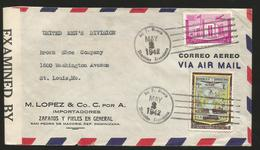 M) 1959 BRITISH GUIANA,BOTANICAL GARDENS, AMERINDIAN  SHOOTING FISH, MINING FOR BAUXITE, AIR MAIL, CIRCULATED COVER FROM - Stamps
