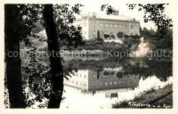 43030124 Kloesterle Eger Partie Am Fluss Schloss Wasserspiegelung Beroun - Schneeberg
