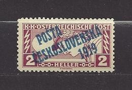 Czechoslovakia 1919 MNH ** Mi 69 A Sc B34 Austrian Stamps Of 1916-18 Mi 219 Overprinted C1 - Czechoslovakia