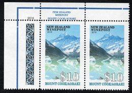 New Zealand Wine Post Mount Cook/Aoraki Corner Pair - New Zealand