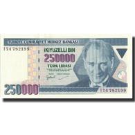 Billet, Turquie, 250,000 Lira, 1998, 1998, KM:211, NEUF - Turchia